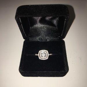 1.0 CT Princess Cut Engagement Ring